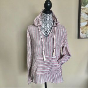 Paper crane Tunic W/Front Pocket and Hood